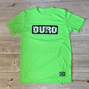 Camiseta Dry manga curta verde fluo