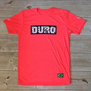 Camiseta Dry manga curta salmão fluo