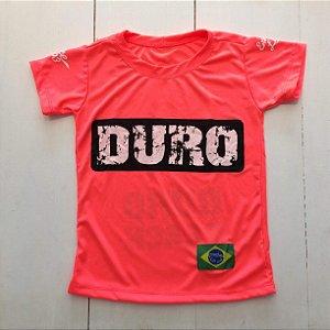 Camiseta Dry infantil salmão fluo