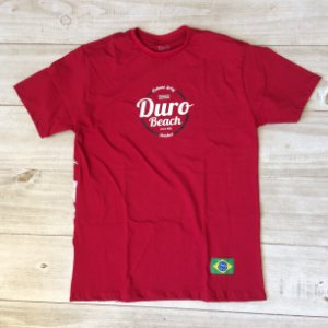 Camiseta algodão Duro Beach bermelho
