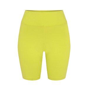 Shorts Biker Amanda verde limão