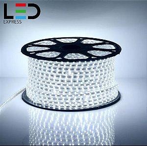 MANGUEIRA FITA DE LED 5050 BRANCO FRIO IP65 127V 10MTS