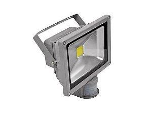 REFLETOR LED 20W COM SENSOR DE PRESENÇA 6500K