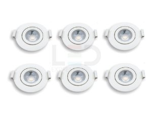 KIT 20 SPOTS LED REDONDO    7W  3000K BIVOLT