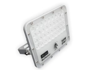 REFLETOR LED LIGHT 50W SMD 6500K IP67 CARCAÇA BRANCA
