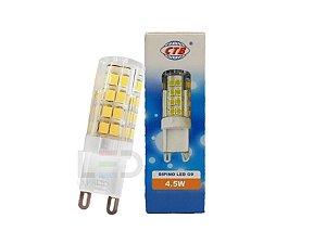 LAMPADA G9 4,5W 127V 3000K