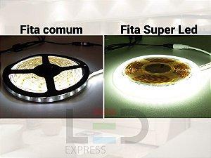 FITA SUPER LED 5054 IP20 120L BRANCO QUENTE