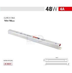 FONTE SLIM 48W 4A 12V IP20