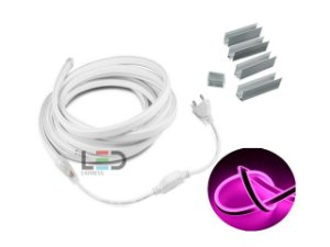 LED NEON FLEX 3 MTS PINK 127V