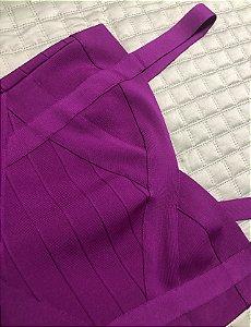 Vestido bandagem roxo M