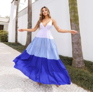 Vestido degradê azul