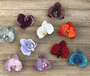 Presilha de Orquídea G toque aveludado