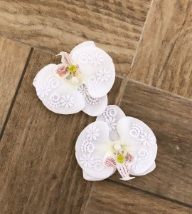 2 Presilhas de orquídea com rendas