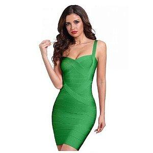 Vestido bandagem verde M