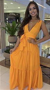 Vestido laranja P