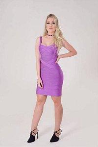 Vestido bandagem lilas / roxo M