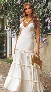 Vestido longo off white P/M
