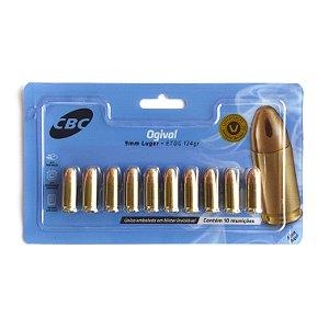 Munição CBC Ogival 9mm Luger ETOG 124gr 10un