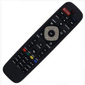 Controle Remoto TV Led Philips Smart URMT41JHG006 / 50PFL5901 / 55PFL5601 / 55PFL6900 com Netflix / Vudu / Youtube