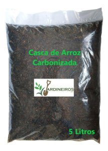 Casca de Arroz Carbonizada - 5 litros