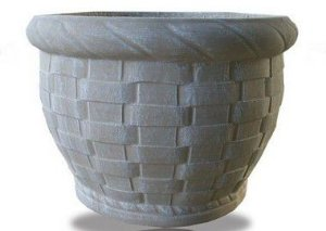 Vaso Cesto Trançado Grande - 44 cm