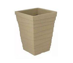 Vaso Coluna Quadrado Degrau Pequeno - 38 cm