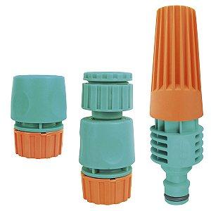 Conjunto para Irrigação Tramontina com Engates Rápidos e Esguicho - 3 Peças