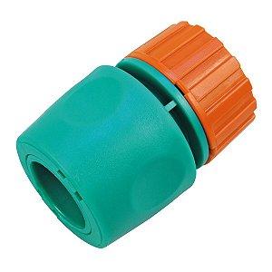 """Engate Rápido com Aquastop Tramontina em Plástico para Mangueira 1/2"""""""