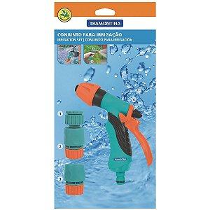 Conjunto para Irrigação Tramontina com Engates Rápidos e Hidropistola - 4 Peças