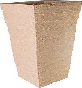 Vaso Coluna Quadrado Degrau Grande - 58 cm