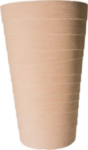 Vaso Coluna Redondo Degrau Grande - 78 cm