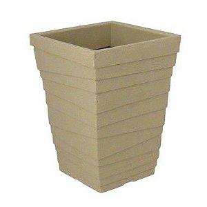 Vaso Coluna Quadrado Degrau Médio - 50 cm