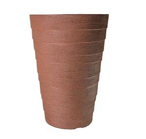 Vaso Coluna Redondo Degrau Médio - 58 cm