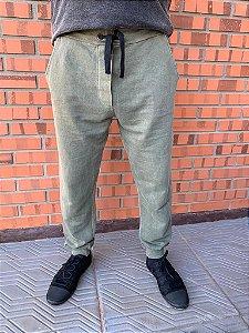 Calça moletom masculina verde stone