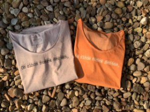 T-shirt os olhos nunca mentem laranja