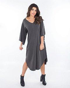 Vestido Capadócia Preto Marmo