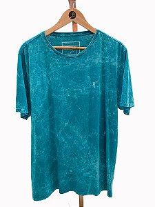 T-shirt Marmorizada turquesa