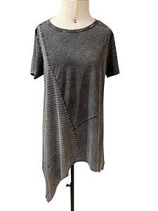 T-shirt pontas preto marmorizado