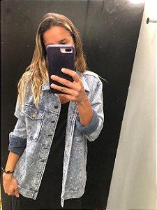 Jaqueta Feminina moletom jeans