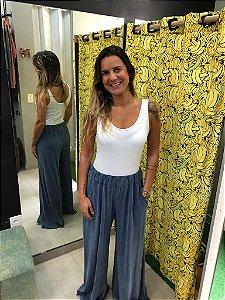 Calça pantalona azul