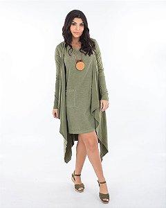Cardigan longo verde