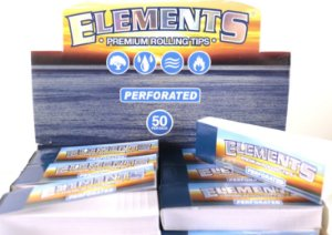 Piteira papel Elements perforated livreto com 50 folhas.