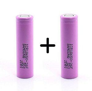 Duas baterias Samsung 18650 2600 mAh 3,7 V
