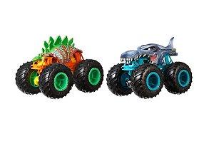 Carrinhos Monster Trucks Motossauro VS Mega Wrex (+3 anos) - Hot Wheels - Mattel