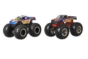 Carrinhos Monster Trucks 4 VS 1 (+3 anos) - Hot Wheels - Mattel