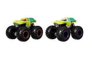 Carrinhos Monster Trucks Michelangelo VS Donatello (+3 anos) - Hot Wheels - Mattel