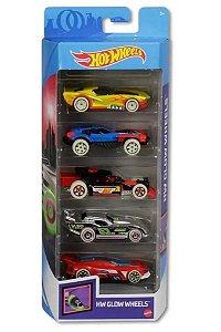 Conjunto de Carros Glow (+3 anos) - Hot Wheels - Mattel