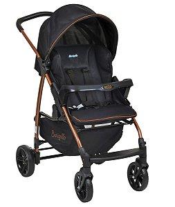 Carrinho de Bebê Ecco CZ (até 15 kg) - Preto e Cobre - Burigotto