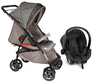 Carrinho de Bebê e Bebê Conforto - Caramelo - Galzerano