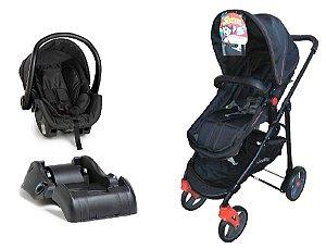 Conjunto de Carrinho de Bebê e Bebê Conforto com Base - Seninha - Galzerano